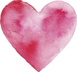 watercolor of a heart