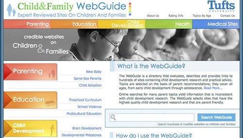 tufts website screen shot
